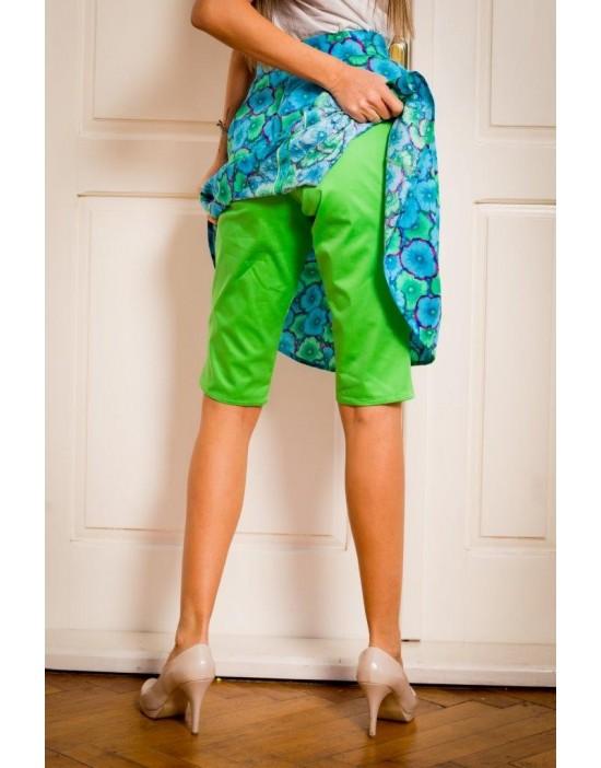 Bluish Shorts-Skirt
