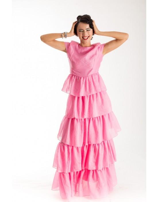 Pink Layered Cake Dress