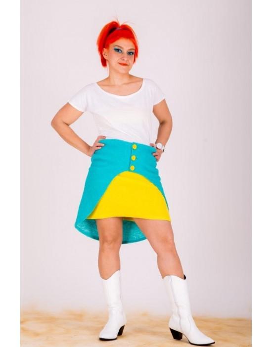 Soft & Turquoise Pseudo-skirt